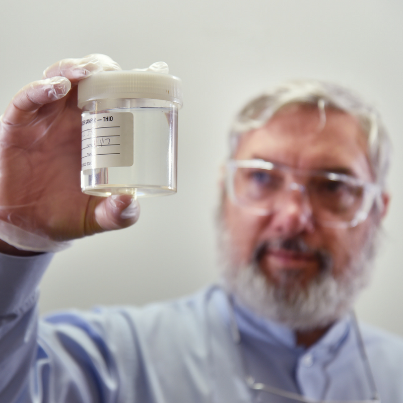 Doctor with Research Sample