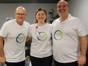 Greg, Amy and Bruce from the District Simulation Centre