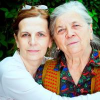 Carer community. Hugging