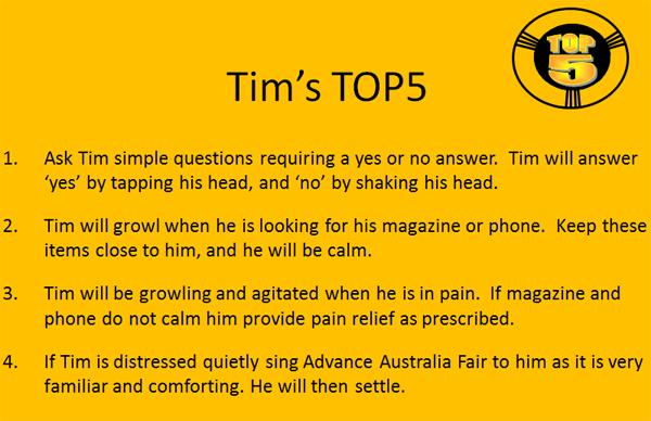 Tim's TOP5