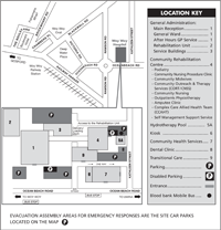 Woy Woy Hospital site map