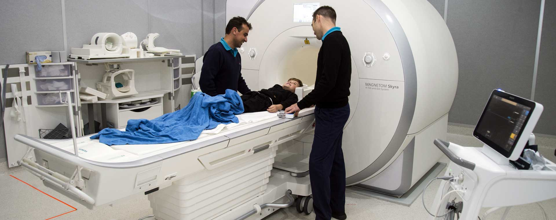 Medical Imaging staff with patient