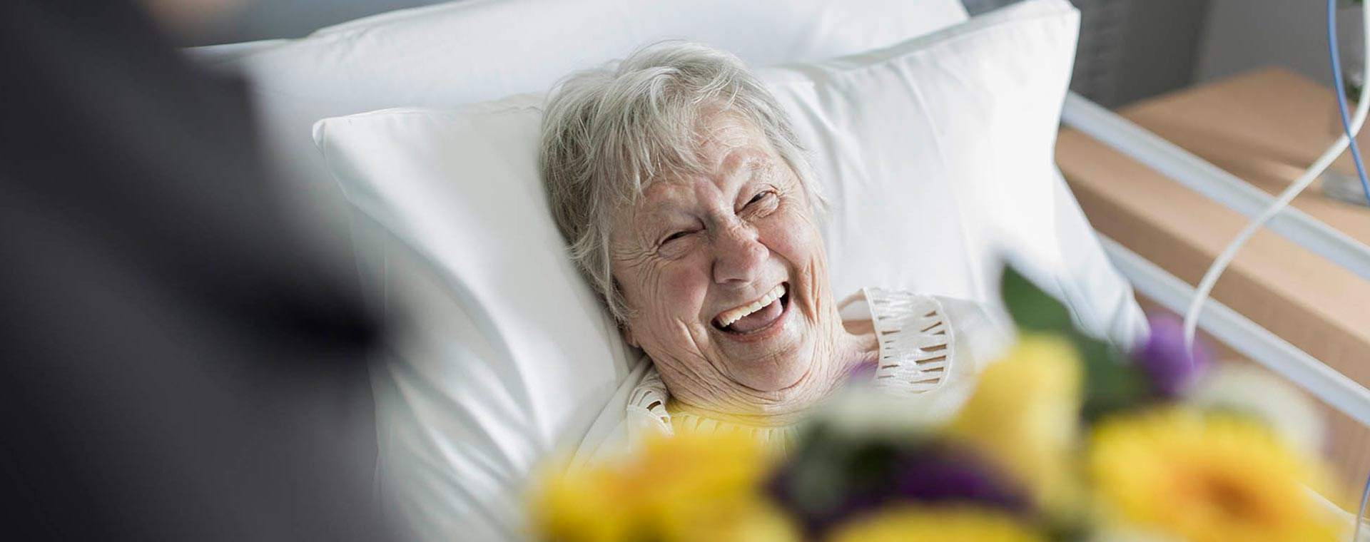 Happy Patient with Visitor