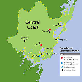 Central Coast Health Locations Map